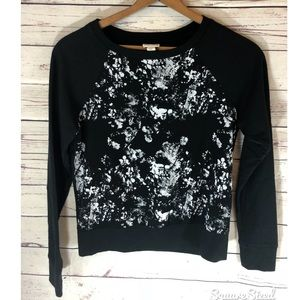 Converse black and white tie dye sweater